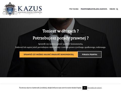 Kancelaria Prawno Podatkowa KAZUS Worek Mateusz Kancelaria Ruda 艢l膮ska