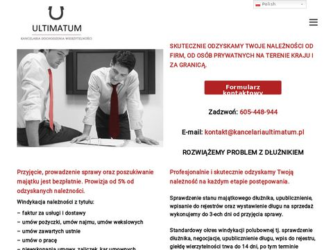 Kancelaria Ultimatum - odzyskiwanie długów