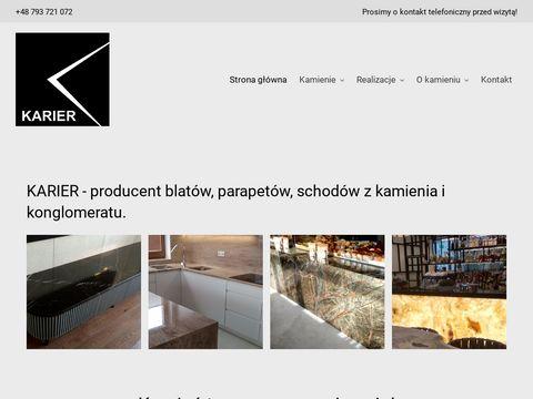 Karier - kamieniarstwo Warszawa: marmur, granit, Å'upek, trawertyn.
