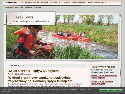 KayakTours - sp艂ywy kajakowe Wroc艂aw