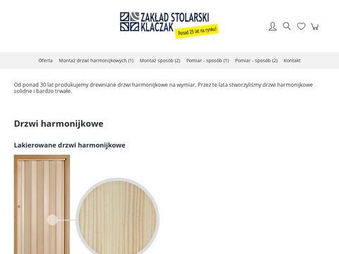 Drzwi harmonijkowe - Zakład Stolarski BiJ Klaczak