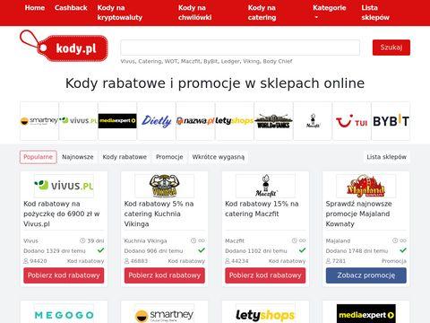 Kody.pl - Kody rabatowe i Promocje