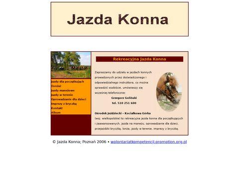 Rekreacyjna Jazda Konna - Kocia艂kowa G贸rka woj. wielkopolskie