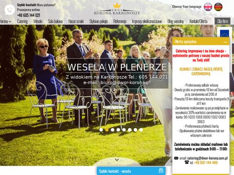 Sala weselna Wrocław - Dwór Korona Karkonoszy
