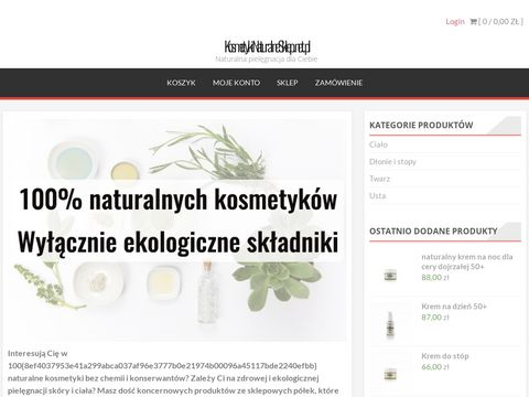 KosmetykiNaturalneSklep.net.pl - sklep z naturalnymi kosmetykami