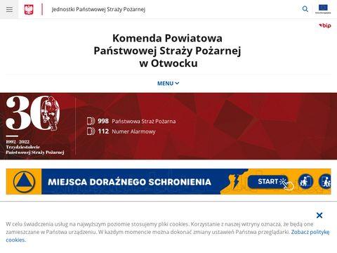 Stra偶 po偶arna w Otwocku - tel. 998 lub 112