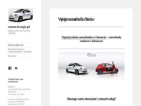 Wypożyczalnia Samochodów Tarnów - krasje.pl