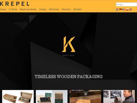 pude艂ka drewniane   Krepel Cassettes   wooden boxe