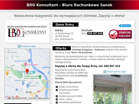 Biuro Rachunkowe Sanok | BDG Konsultant - Ksi臋gowo艣膰 dla Firm