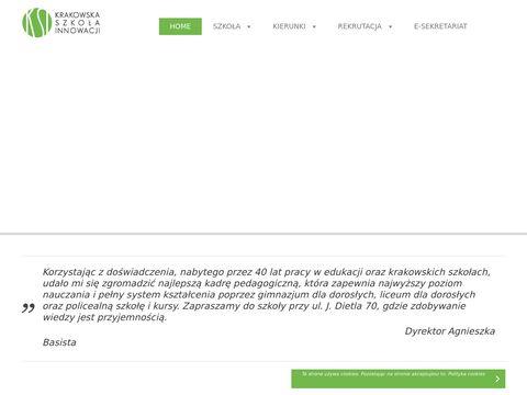 Krakowska Szko艂a Innowacji Szko艂a Policealna i Kursy
