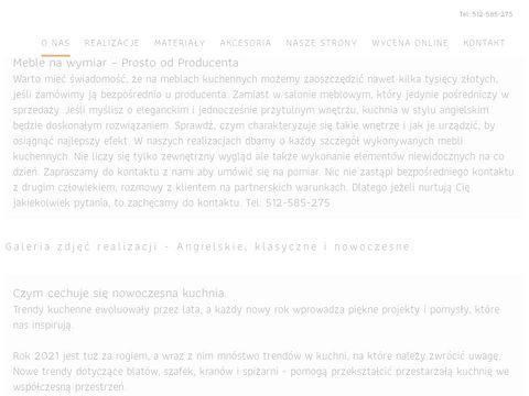 Kuchnie Gorzów Woźniak Studio Mebli
