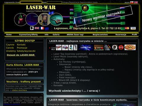 Laserowe Centrum Rozrywki w Legionowie LASER-WAR