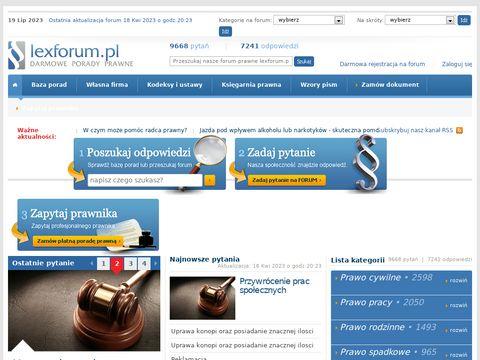 FORUM PRAWNE - darmowa pomoc prawna