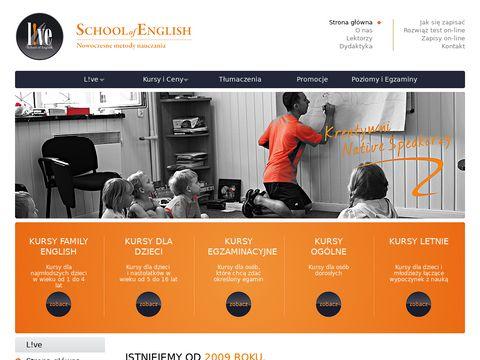 Live School of English - Szkoła Języka Angielskiego Sompolno