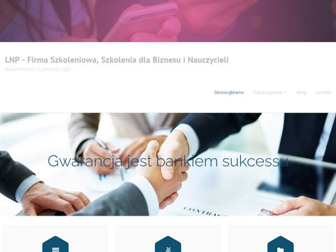Trening asertywnoÅ›ci i inne szkolenia - lnp.com.pl