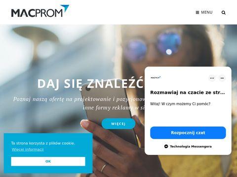 Macprom strony internetowe, pozycjonowanie Nowy SÄ…cz