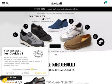 Buty podwyższające - Mario BERTULLI