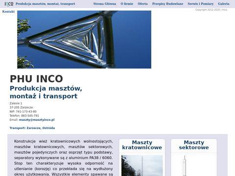 Inco - Wie偶e, maszty kratownicowe, aluminiowe.
