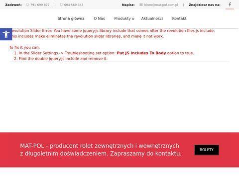 Rolety Białystok - mat-pol.com.pl