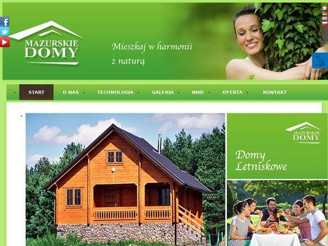 Mazurskie Domy - domy drewniane całoroczne