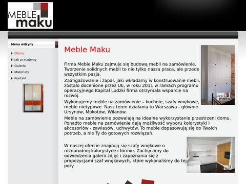 Meble Maku - szafy wnÄ™kowe