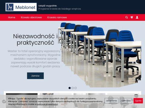 Meblo.net. Krzesła biurowe, fotele gabinetowe.