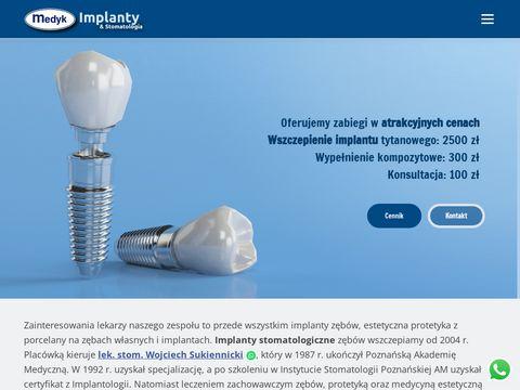 Implanty zębowe - gabinet Medyk Dent Ostrów Wlkp.