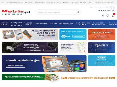 Metris.pl - mierniki elektryczne, przyrzÄ…dy pomiarowe | Sklep internetowy