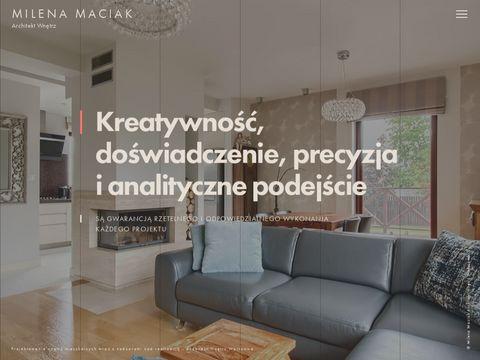 Projektowanie wnętrz Milena Maciak Warszawa. Architekt wnętrz Warszawa.