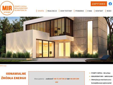 Mirenergia.pl - pompy ciepła, rekuperatory
