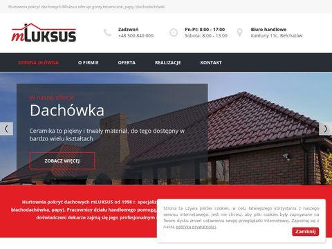 Dachy Mluksus - Hurtownia gontów bitumicznych