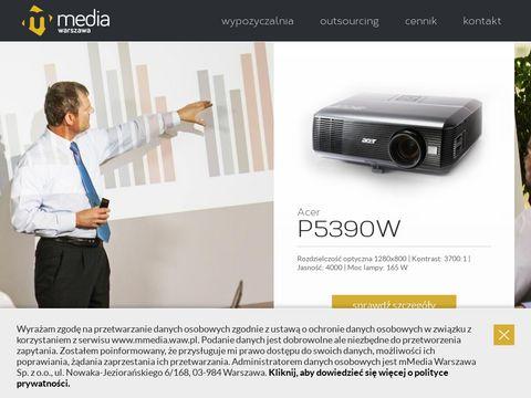 Wynajem projektorów - mMedia Warszawa