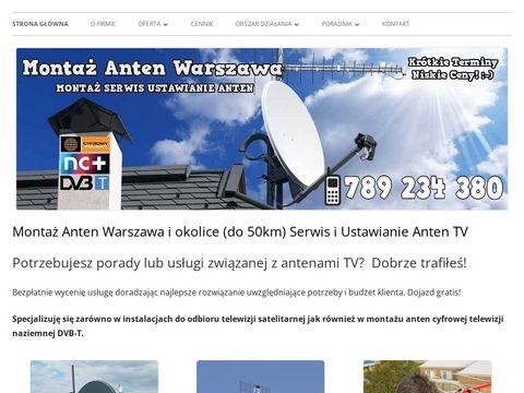 Monta偶, Serwis i Ustawianie Anten Warszawa