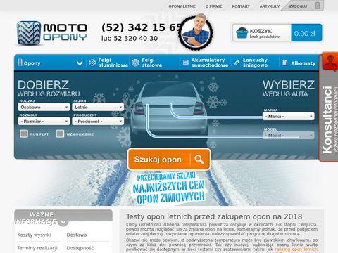 Motoopony.pl - tanie opony letnie i zimowe, felgi stalowe i aluminiowe