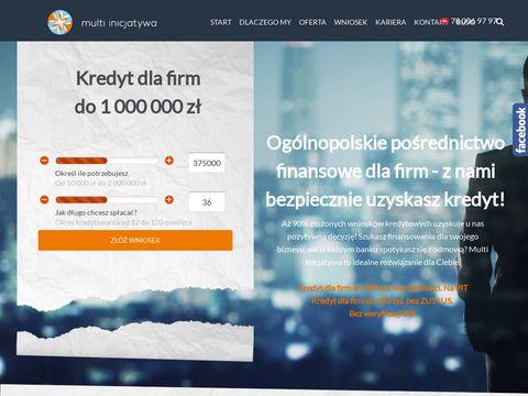 Kredyty dla małych firm - Multiinicjatywa