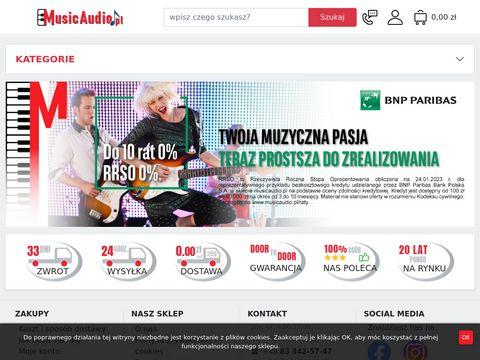 Sklep muzyczny Music Audio, Instrumenty