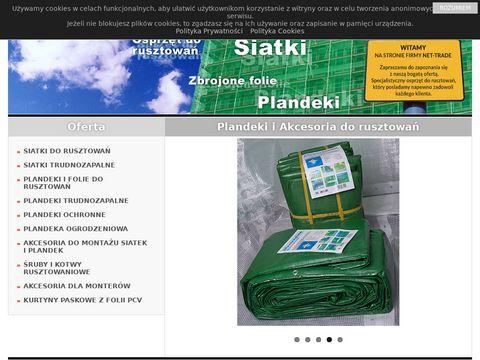 Plandeki budowlane, siatka zabezpieczajÄ…ca - Net-Trade.pl