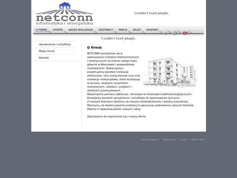 Netconn - sieci komputerowe i instalacje elektryczne w pełnym zakresie