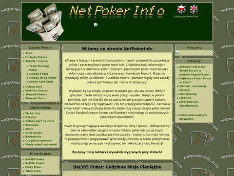 Netpokerinfo - wszystko o pokerze online