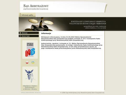 SÄ…d Arbitraz przy Nowotomyskiej Izbie Gospodarczej