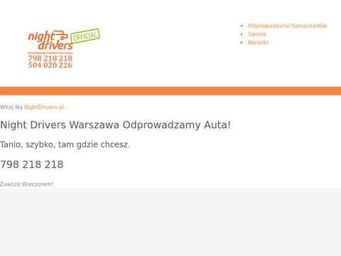 Night Drivers - Przewóz osób