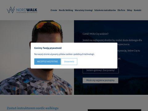 NORD WALK narty biegowe wiÄ…zania