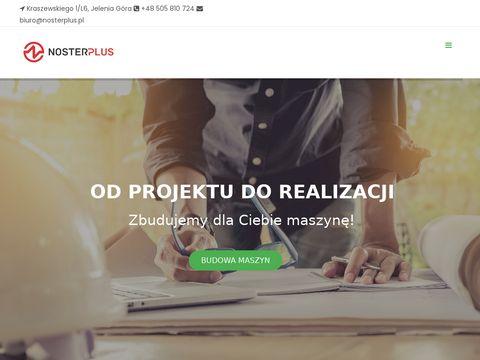 Biuro konstrukcyjne NosterPlus - usługi CAD, projektowanie maszyn i urządzeń