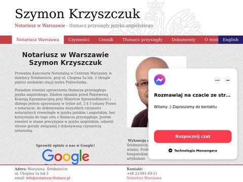 Kancelaria Notarialna Szymon Krzyszczuk Notariusz