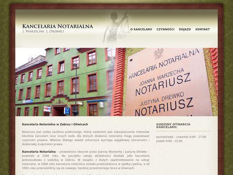 Notariusz Drewko J. kancelaria notarialna gliwice