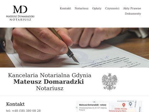 Mateusz Domaradzki - Notariusz