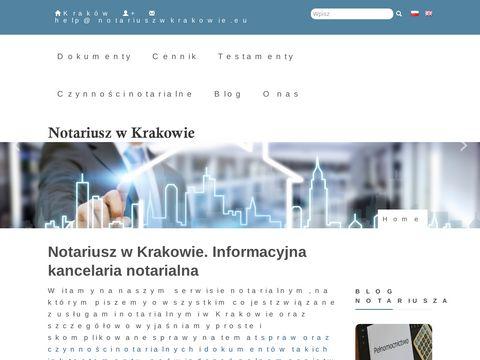 Notariusz Kraków   Akty notarialne, Testament, Dziedziczenie