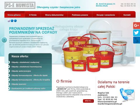 Nowista s.c. pojemnik na przeterminowane leki