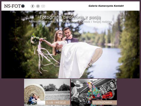 NS-FOTO, Fotograf na wesele, fotografia 艣lubna, zdj臋cia 艣lubne, Nowy S膮cz, Fotograf.