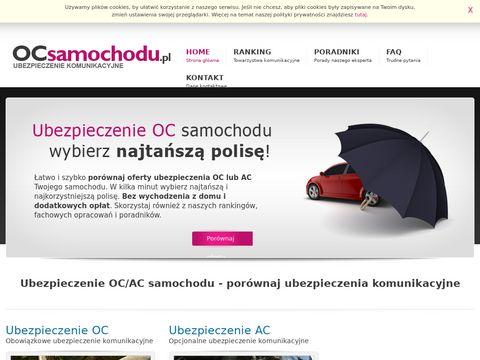 Ubezpieczenia OC samochodu鈥�